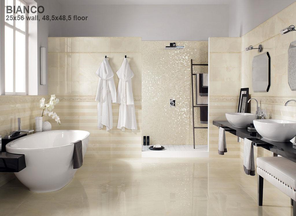 Impronta italgraniti onice d wall onice bianco 30 5 72 5 for Looking for bathroom renovators
