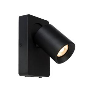 Producent: Lucide Model: Nigel Symbol: 09929/06/30 Przeznaczenie: Hol, Łazienka, Sypialnia. Parametry kolor lampy: czarny materiał: aluminium ilość źródeł / rodzaj trzonka: 1 x GU10, 5 W, 320 lm, 3000 K wysokość (mm): 118 szerokość (mm): 160 głębokość (mm): 100 max moc źródła: 5 W napięcie: 230 V IP: 20 źródło światła w zestawie: 1 x GU10, 5 W, 320 lm, 3000 K punkt ładowania USB włącznik zintegrowany