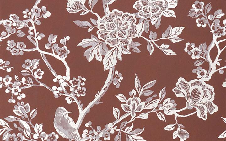 Serenissima Chromagic Floral Bordeaux RTT. 60x120 cm 1074172